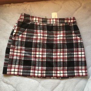NWT F21 Thick Plaid Skirt